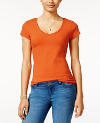 Energie Juniors' Mila V Neck Tee Burnt Orange