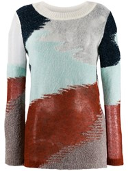 Missoni Abstract Knitted Jumper Blue