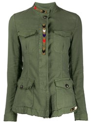 Bazar Deluxe Beaded Multi Pocket Jacket Green