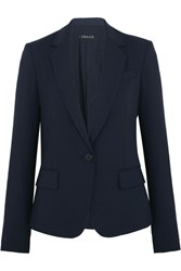 Theory Gabe Stretch Wool Crepe Blazer Midnight Blue