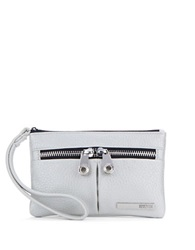 Kenneth Cole Reaction Wooster Street Leather Wristlet White Wheat