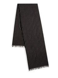 John Varvatos Frayed Wool Scarf Charcoal