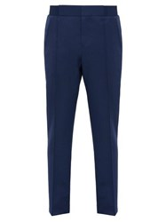 Berluti Straight Leg Wool Trousers Blue