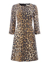 Oui Leopard Print Dress Leopard