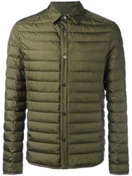 Salvatore Ferragamo Buttoned Down Jacket Green