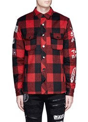 Haculla 'Punk Work' Check Plaid Flannel Jacket Red Multi Colour