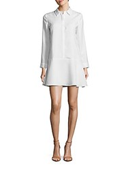 Cooper And Ella Spread Collar Long Sleeve Shirtdress White