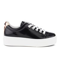 Kenzo Women's K Lace Platform Trainers Black Rose Gold