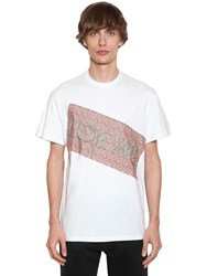 Loewe Flower Patch Cotton Jersey T Shirt White