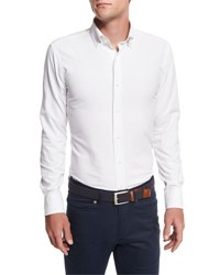 Peter Millar Collection Perfect Pinpoint Button Front Shirt White