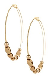 Alex And Ani Jordan Small Endless Hoop Earrings Metallic