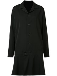 Y's Flared Hem Coat Black