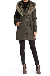 Rudsak Genuine Leather Faux Fur Sophia Coat Beige