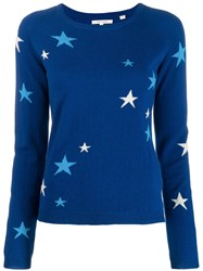 Chinti And Parker Star Knit Jumper Blue