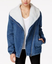 Roxy San Simon Fleece Lined Denim Jacket True Blue