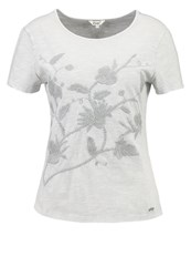 Khujo Hella Print Tshirt Light Grey