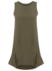 Miss Selfridge Khaki Split Tunic Green