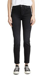 Cotton Citizen The High Rise Slim Skinny Jeans Washed Black