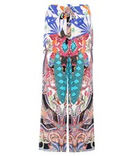 Etro Printed High Rise Trousers Multicoloured
