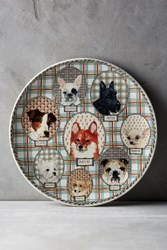 Anthropologie Gien Darling Dog Cake Platter Multi