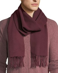 Eton Solid Cashmere Scarf Burgundy Red Dark Red