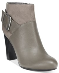 Bar Iii Nimble Buckled Booties Only At Macy's Women's Shoes Gray