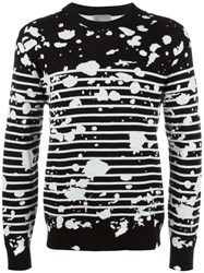 Christian Dior Homme Splatter Pattern Jumper Black