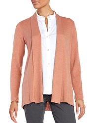 Eileen Fisher Petite Open Front Cardigan Toffee