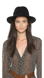 Hat Attack Wool Felt Avery Fedora Hat Black