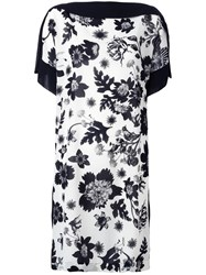 Antonio Marras Floral Print Shift Dress White