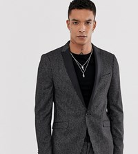 Heart And Dagger Skinny Fit Suit Jacket In Stripe Black