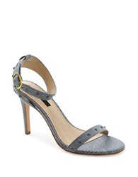 Kensie Lexy Embossed Leather Sandals Denim