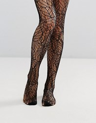 Pretty Polly Abstract Net Tights Black