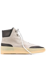 Fear Of God Panelled Hi Top Sneakers Grey