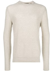 Loro Piana Textured Knit Sweater Nude And Neutrals