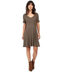 Culture Phit Marceline Short Sleeve Sweater Dress Olive Women's Dress
