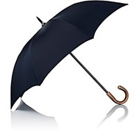 Barneys New York Herringbone Stick Umbrella Navy