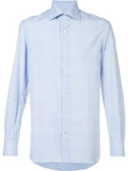 Isaia Plaid Shirt Blue