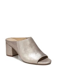 Naturalizer Cyprine Shimmery Leather Mules Champagne