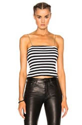 Amiri Stripe Chain Stripe Tube Top In Black White Stripes Black White Stripes