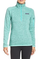 Patagonia Women's 'Better Sweater' Zip Pullover Galah Green