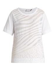 Adidas By Stella Mccartney Back Drawstring Jersey T Shirt White