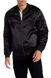 Standard Issue Souvenir Embroidered Bomber Jacket Black