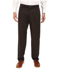 Dockers Signature Khaki D3 Classic Fit Pleated Coffee Bean Stretch Men's Casual Pants Black