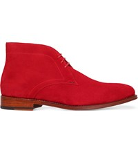 Paul Smith Morgan Suede Chukka Boots Red
