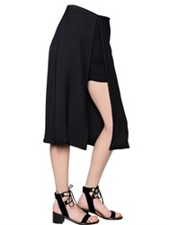 Rosetta Getty Asymmetrical Viscose Crepe Skorts