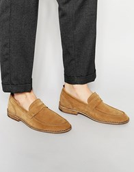 Selected Homme Ley Suede Loafers Brown