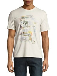 Black Brown Graphic Short Sleeve Cotton Tee Ivory
