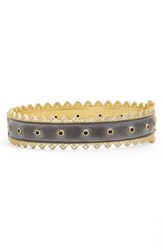 Women's Freida Rothman 'Harlequin Edge' Spike Hinge Bangle