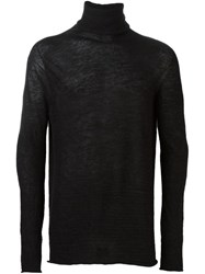 Lost And Found Ria Dunn Seamless Roll Neck Jumper Black
